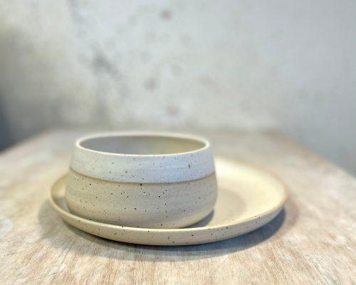 Vegetarian plates set – Handmade ceramic plates – Vegetarian gift idea – White ceramic plates – Birthday gift