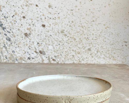 White side plate – Handmade ceramic plate – Small handmade plate – Pottery white side plate – Birthday gift idea – Anniversary gift