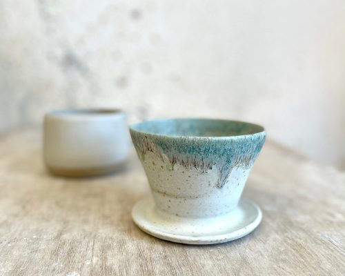 White pour over – V60 coffee dripper – Coffee lover gift – Handmade white coffee dripper – Ceramic pour over