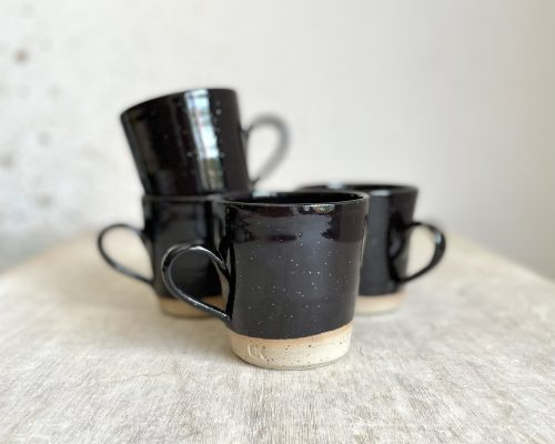 Black handmade coffee mug – Coffee mug pottery handmade – Ceramic mug stoneware – Breakfast ceramic mug – Coffee lover pottery mug